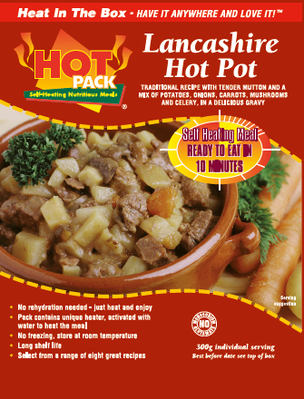 HOT PACK SELF HEATING MEAL IN A BOX SPICY VEGETABLE RIGATONI Pack of 6