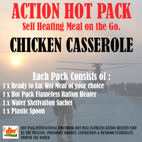 ACTION HOT PACK  SELF HEATING Chicken Casserole