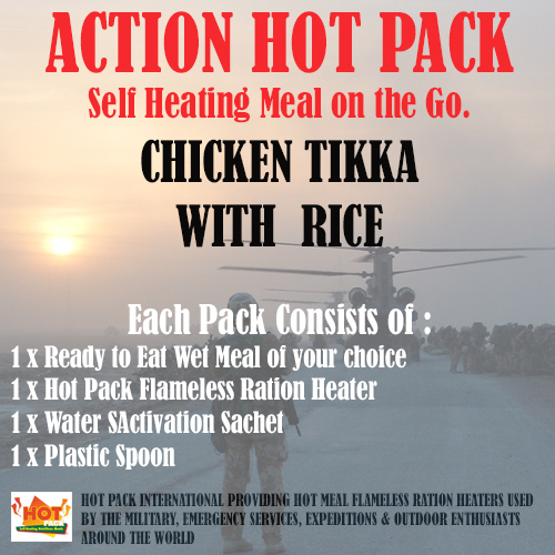 ACTION HOT PACK SELF HEATING Chicken Tikka & Rice