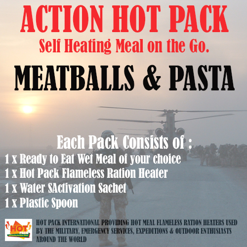 ACTION HOT PACK SELF HEATING Meatballs & Pasta