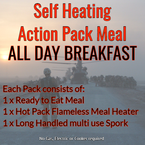 Action Hot Pack Self Heating Meal  ALL DAY BREAKFAST