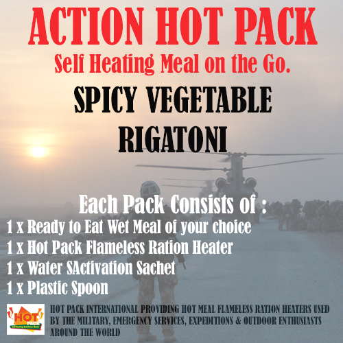 ACTION PACK SELF HEATING Spicy Vegetable Rigatoni