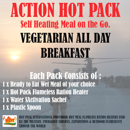 ACTION HOT PACK SELF HEATING MEAL  Vegetarian All Day Breakfast