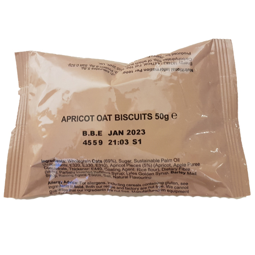 Biscuits Apricot 50g pack UK Military