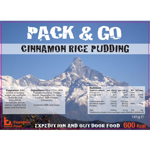 Pack & Go 600 Kcal Cinnamon Rice Pudding