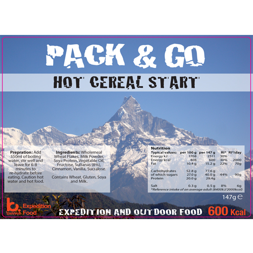 Pack & Go 600 Kcal Hot Cereal Start