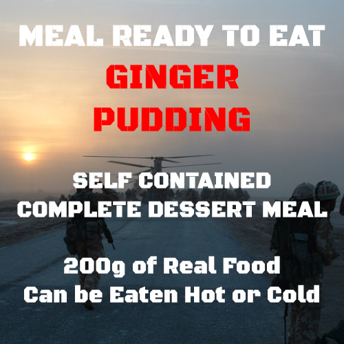 200g Ginger Pudding & Ginger Sauce  MRE Wet Meal
