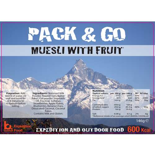 Pack & Go 600 Kcal Muesli with Milk