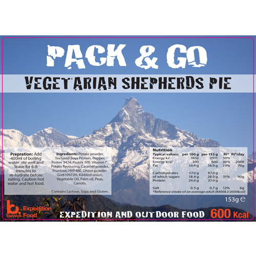 Pack & Go 600 Kcal Vegetarian Shepherds Pie