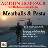Action Pack Self Heating MEATBALLS & PASTA 300g