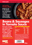 Hot Pack Action Hot Pack Self Heating Meal BEANS & SAUSAGES 300g