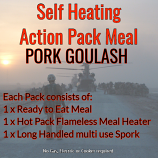Action Hot Pack Self Heating Meal PORK GOULASH