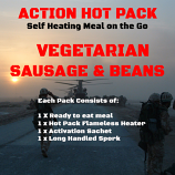 Action Hot Pack Self Heating Meal VEGETARIAN SAUSAGE & BEANS