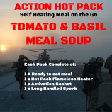 Action Hot Pack Self Heating TOMATO & BASIL MEAL SOUP