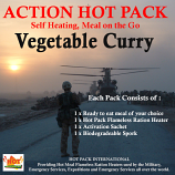 Action Hot Pack Self Heating Meal VEGETABLE CURRY 300g