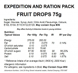 Fruit Drops, Individually wrapped, Mixed flavours 75g