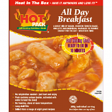 Hot Pack SELF HEATING Meal in a box  All Day Breakfast qty  12