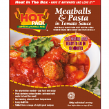 Hot Pack SELF HEATING Meal in a Box  Meatballs and Pasta  Qty 6