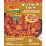 Hot Pack SELF HEATING Meal in a Box  Spicy Vegetable Rigatoni  Qty 1