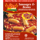 Hot Pack SELF HEATING Meal in a box  Sausage, Beans & Tomato Sauce Qty 12