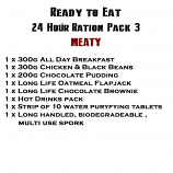 MRE Ready to eat 24 hour ration Pack 3 Meaty - 2019