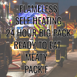 Meaty SELF HEATING  Pack F Ready to Eat 24 Hour Big Pack