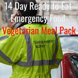 14 Day Ready to Eat  Emergency Food Vegetarian Pack