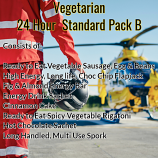 Vegetarian Pack B Ready to Eat 24 Hour Pack  Standard
